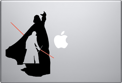 Darth Vader Young and Old Macbook Decal