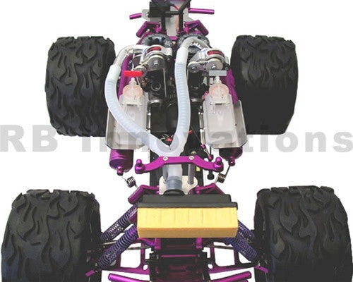 HPI Savage Twin Superchargers
