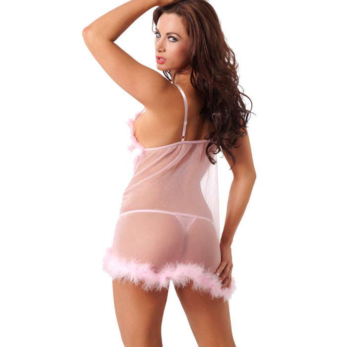 Babydoll And GString Pink