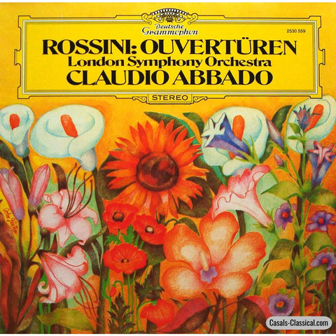 Abbado/london So: Rossini 6 Overture (La Cenerentola Etc.) - Dg 2530 559 Lp