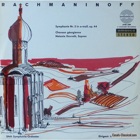 Abravanel: Rachmaninov Symphony No. 3 + Vocalise - Amadeo Avrs 6309 Lp