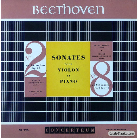 Airoff: Beethoven Violin Sonata No. 8 Etc. - Concerteum Cr 225 Lp