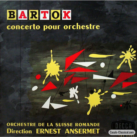 Ansermet/osr: Bartok Concerto For Orchestra - French Decca Lxt 5305 Lp