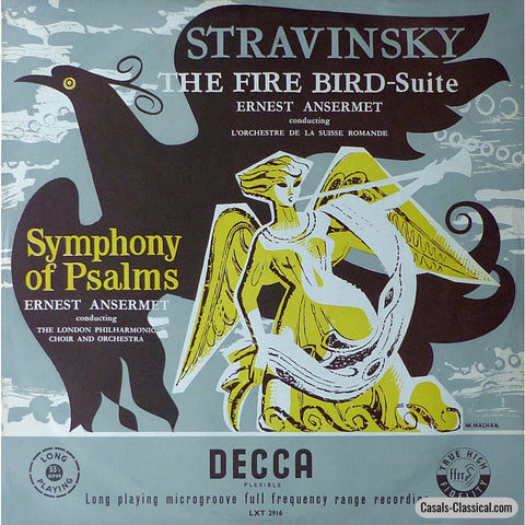 Ansermet: Firebird + Symphony Of Psalms - Decca Lxt 2916 Lp