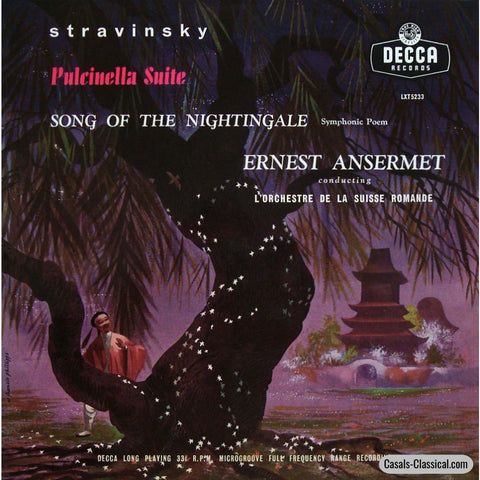 Ansermet: Stravinsky Song Of The Nightingale / Pulcinella Suite - Decca Lxt 5233 Lp