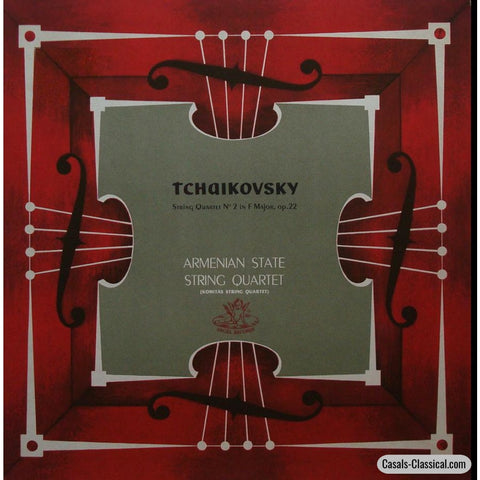 Armenian State String Quartet: Tchaikovsky Quartet No. 2 - Angel 35238 Lp