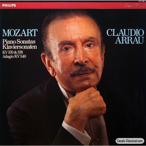 Arrau: Mozart Piano Sonatas K. 570 & 576 + Adagio 540 - Philips 411 136-1 Lp