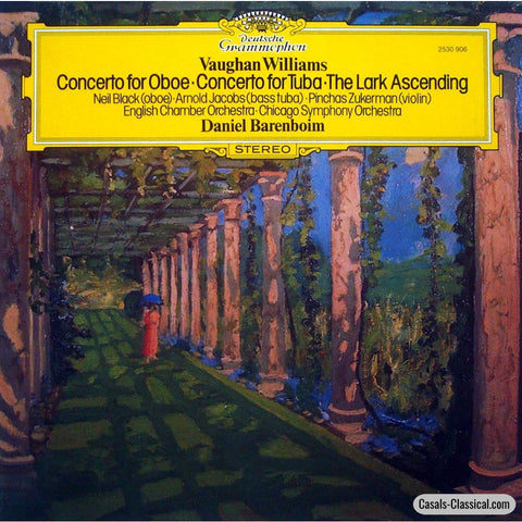 Barenboim: Vaughan Williams Lark Ascending (Zukerman) Etc. - Dg 2530 906 Lp
