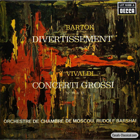 Barshai: Bartok Divertissement + Vivaldi Op. 3 /10 & 11 - Decca Lxt 6.026 A Lp