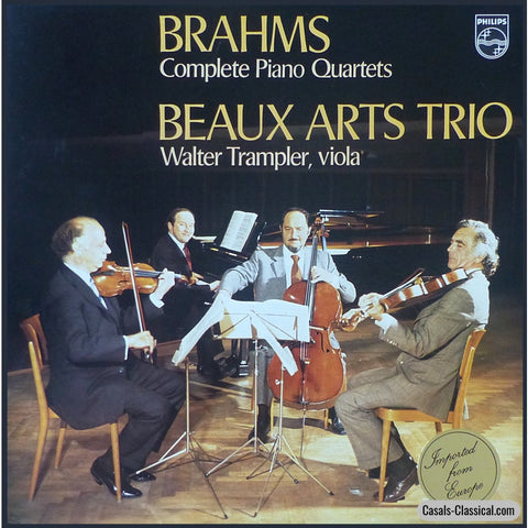 Beaux Arts Trio/trampler: Brahms 3 Piano Quartets - Philips 6747 068 (3Lp Box Set) Lp