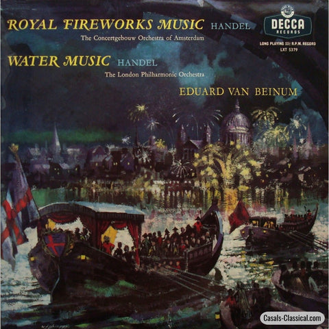 Beinum: Royal Fireworks & Water Music - Decca Lxt 5379 Lp