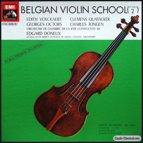 Belgian Violin School (No. 2): De Beriot Boeck Et Al. - Emi C161-96986/89 (4Lp Box Set) Lp