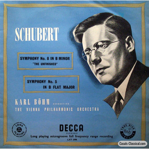 Bohm/vpo: Schubert Symphonies No. 5 & 8 Unfinished - Decca Lxt 2998 Lp