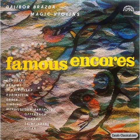 Dalibor Brázda: Magic Violins (Encores) - Supraphon Sua St 11567 Lp