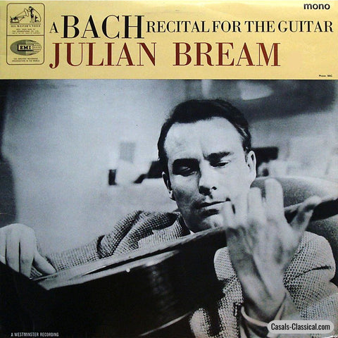 Bream: Bach Recital (Chaconne Little Prelude Etc.) - His Masters Voice Clp 1929 Lp