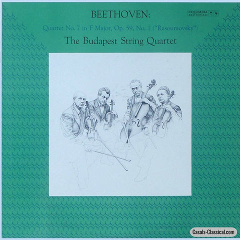 Budapest Quartet: Beethoven String Quartet Op. 59 No. 1 - Columbia Ml 5585 Lp