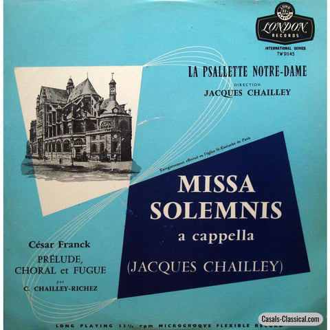Chailley-Richez: Franck Prélude Choral Et Fugue - London Tw 91145 Lp