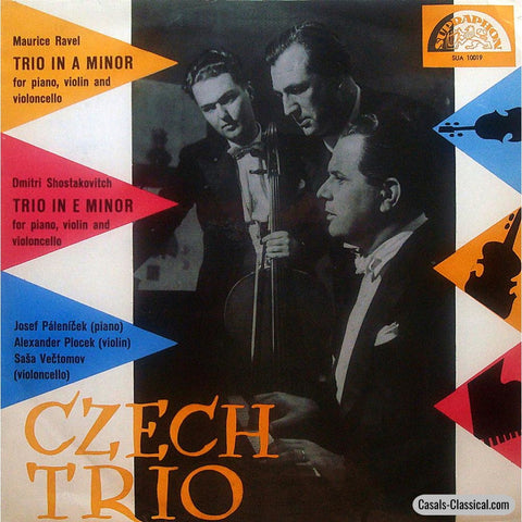Czech Trio: Shostakovich No. 2 & Ravel Piano Trios - Supraphon Sua 10019 Lp