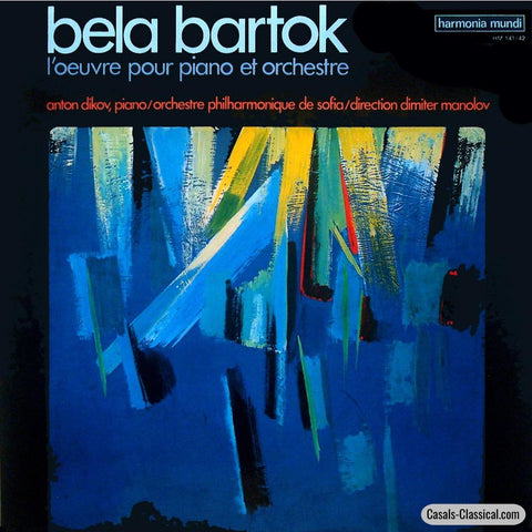 Dikov: Bartok Works For Piano & Orchestra - Harmonia Mundi Hm 141/142 (2Lp Set) Lp