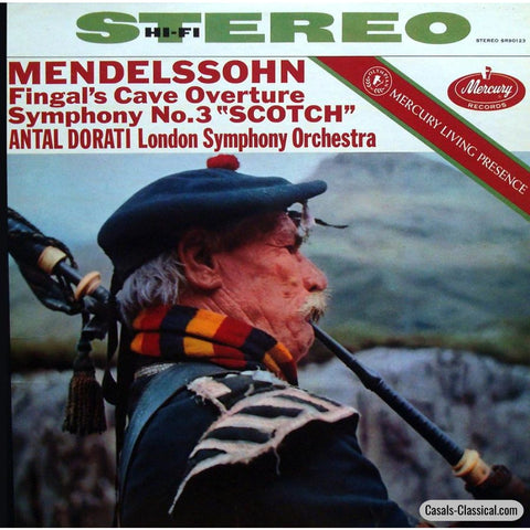 Dorati: Mendelssohn Symphony No. 3 (Scottish) + Hebrides Ov. - Mercury Sr 90123 Lp