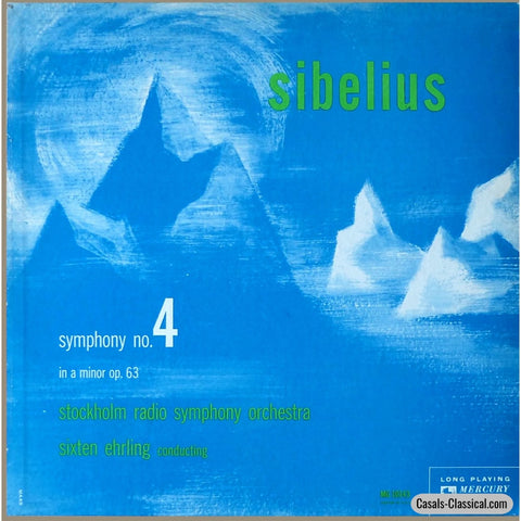 Ehrling/stockholm Rso: Sibelius Symphony No. 4 - Mercury Mg 10143 Lp