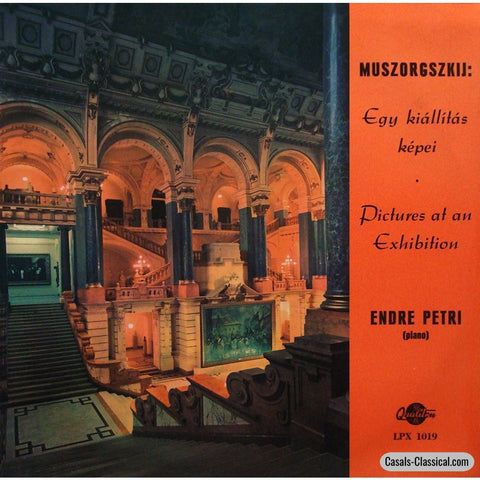 Endre Petri: Mussorgsky Pictures At An Exhibition - Hungaroton Lpx 1019 Lp
