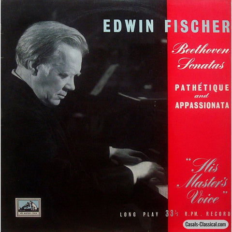 Edwin Fischer: Pathetique & Appassionata - His Masters Voice Alp 1094 Lp