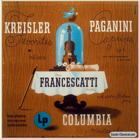 Francescatti: Kreisler Favorites - Paganini Caprices Columbia Ml 4219 Lp