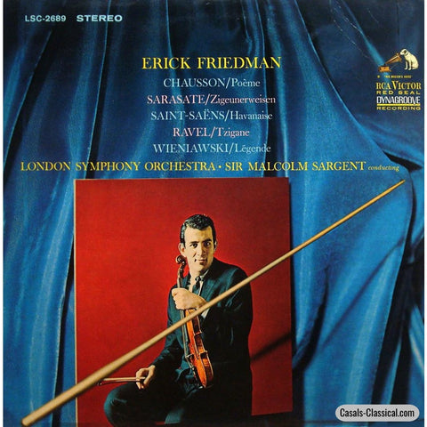 Friedman: Chausson Poeme Ravel Tzigane Etc. - Rca Japan Lsc-2689 Lp