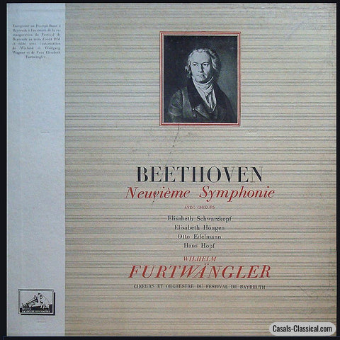 Furtwangler/bayreuth Fo: Beethoven 9Th - La Voix De Son Maitre Falp 381/382 (2Lp Box Set) Lp