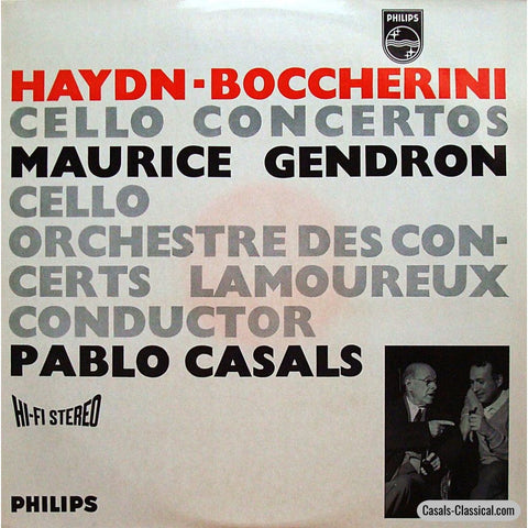Gendron: Haydn No. 2 & Boccherini G. 482 Cello Concertos - Philips 835 069 Ay Lp