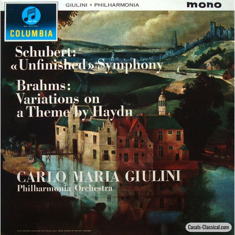 Giulini: Unfinished Symphony + Haydn Variations - Columbia 33Cx 1778 Lp