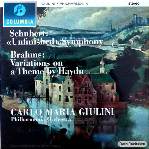 Giulini: Schubert Unfinished + Brahms Haydn Vars. - Columbia Sax 2424 (Ed1) Lp