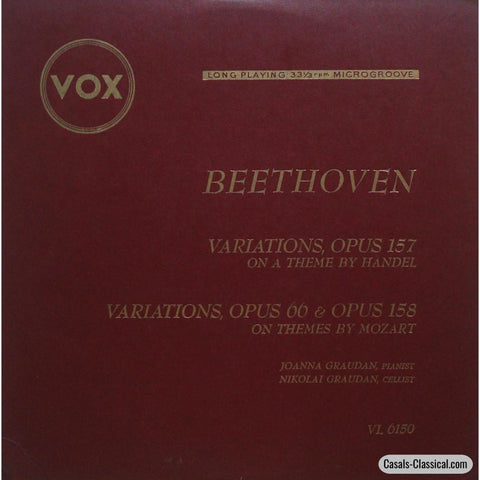 Graudan: Beethoven Variations For Cello Woo 45 & 46 - Vox Vl 6150 Lp