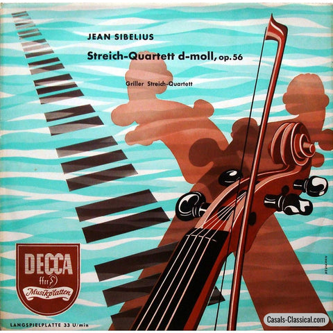 Griller Quartet: Sibelius String Quartet In D Minor Op. 56 - Decca Lk 40147 Lp