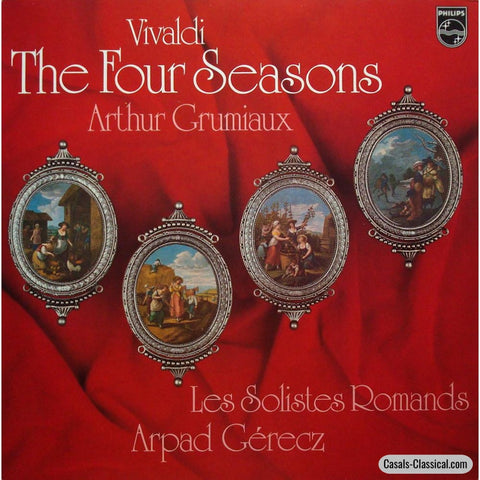 Grumiaux/gerecz: Vivaldi The 4 Seasons - Philips 9500 613 Lp
