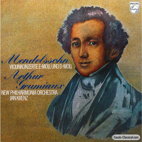 Grumiaux/krenz: Mendelssohn Violin Concerto In D & E Minor - Philips 6500 465 Lp