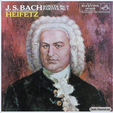Heifetz: Bach Sonata No. 3 / Partita 1 For Solo Violin - Rca Lm-2210 Lp