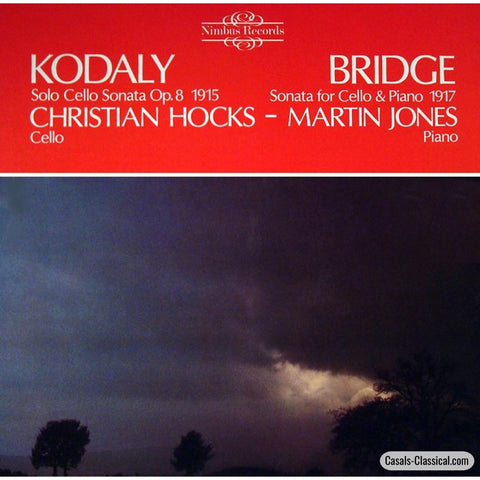Hocks: Kodaly Solo Cello Sonata + Bridge - Nimbus 2117 Lp