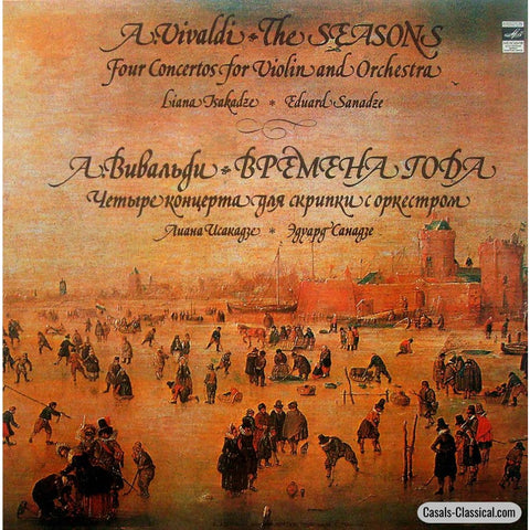 Isakadze: Vivaldi The Four Seasons - Melodiya C10-10057-8 Lp