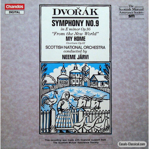 Jarvi/sno: Dvorak Symphony No. 9 From The New World - Chandos Abrd 1220 Lp
