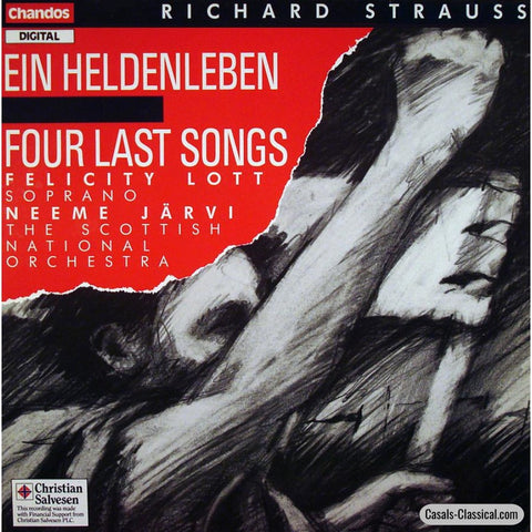 Jarvi: R. Strauss Heldenleben + Four Last Songs (Lott) - Chandos Abrd 1228 Lp