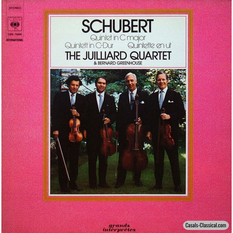 Juilliard Quartet/greenhouse: Schubert String Quintet D. 956 - Cbs 76268 Lp