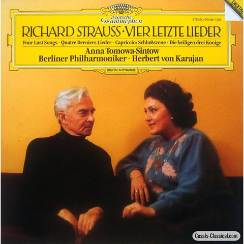 Tomowa-Sintow/karajan: R. Strauss Four Last Songs Capriccio Etc. - Dg 419 188-1 Lp