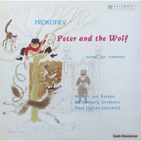 Karajan: Peter And The Wolf (Ustinov) + Toy Symphony - Columbia 33Cx 1559 Lp