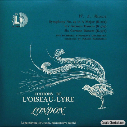 Keilberth: Mozart Symphony No. 29 + Six German Dances - Loiseau-Lyre Ol 50005 Lp