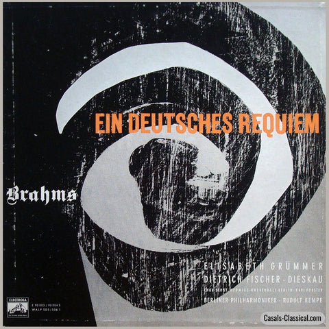 Kempe: Brahms German Requiem Op. 45 - Electrola Walp 505/506 (2Lp Box Set) Lp