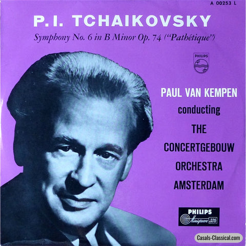 Kempen: Tchaikovsky Symphony No. 6 Pathetique - Philips A 00253 L Lp