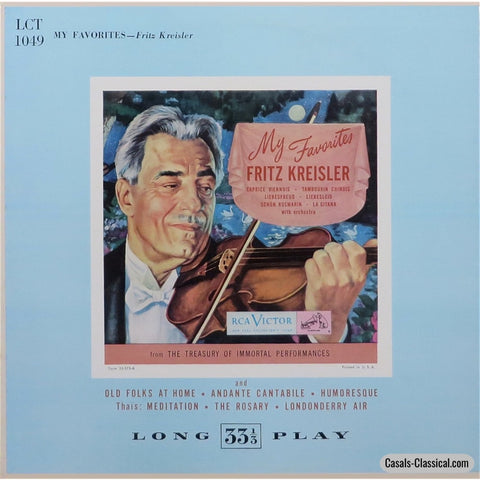 Kreisler: My Favorites (Caprice Viennois Liebesfreud Etc.) - Rca Lct-1049 Lp