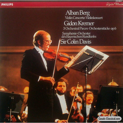 Kremer: Berg Violin Concerto To The Memory Of An Angel - Philips 412 523-1 Lp
